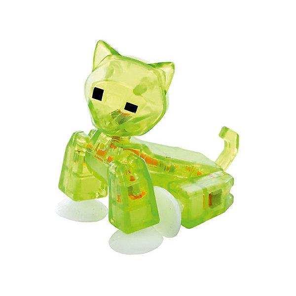 Фигурка питомца Кот, зеленый, StikbotФигурки из мультфильмов<br>Характеристики товара:<br><br>• возраст: от 4 лет;<br>• материал: пластик;<br>• в комплекте: 1 фигурка;<br>• размер упаковки: 11х12х3,5 см;<br>• вес упаковки: 100 гр.;<br>• страна производитель: Китай.<br><br>Фигурка питомца «Кот» зеленый Stikbot — необычная фигурка с подвижными деталями, с помощью которой можно снимать забавные и смешные видеоролики. На лапках питомца имеются присоски, которые крепятся к поверхности.<br><br>Для создания видеороликов необходимо скачать бесплатное мобильное приложение. А затем при помощи обычного телефона можно записывать небольшие фрагменты, придавая фигурке различные позы. Все фрагменты после записи монтируются в один видеоролик, на который накладывается музыка, фон, голосовые заметки.<br><br>Игрушка позволит детям устроить свою собственную студию и проявить творческие способности и воображение. <br><br>Фигурку питомца «Кот» зеленый Stikbot можно приобрести в нашем интернет-магазине.<br>Ширина мм: 35; Глубина мм: 120; Высота мм: 110; Вес г: 66; Возраст от месяцев: 48; Возраст до месяцев: 2147483647; Пол: Унисекс; Возраст: Детский; SKU: 6838662;