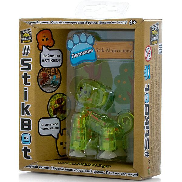 Zing Фигурка питомца Мартышка, зеленая, Stikbot stenzhorn bjd doll 1 4doll unoa lusis joint doll free eye