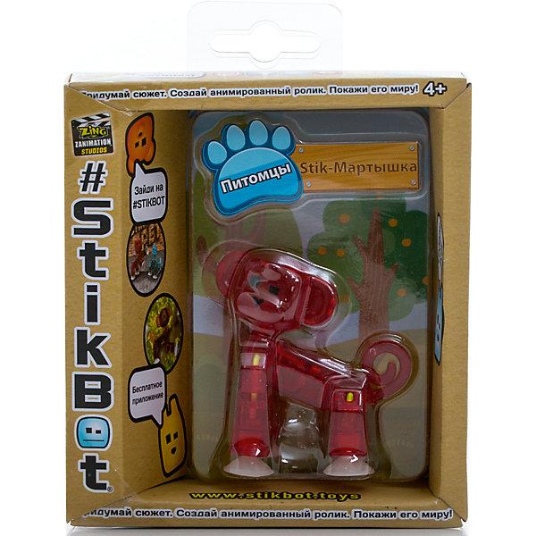 Фигурка питомца Мартышка, красная, StikbotФигурки из мультфильмов<br>Характеристики товара:<br><br>• возраст: от 4 лет;<br>• материал: пластик;<br>• в комплекте: 1 фигурка;<br>• размер упаковки: 11х12х3,5 см;<br>• вес упаковки: 100 гр.;<br>• страна производитель: Китай.<br><br>Фигурка питомца «Мартышка» красная Stikbot — необычная фигурка с подвижными деталями, с помощью которой можно снимать забавные и смешные видеоролики. На лапках питомца имеются присоски, которые крепятся к поверхности.<br><br>Для создания видеороликов необходимо скачать бесплатное мобильное приложение. А затем при помощи обычного телефона можно записывать небольшие фрагменты, придавая фигурке различные позы. Все фрагменты после записи монтируются в один видеоролик, на который накладывается музыка, фон, голосовые заметки.<br><br>Игрушка позволит детям устроить свою собственную студию и проявить творческие способности и воображение. <br><br>Фигурку питомца «Мартышка» красная Stikbot можно приобрести в нашем интернет-магазине.<br>Ширина мм: 35; Глубина мм: 120; Высота мм: 110; Вес г: 66; Возраст от месяцев: 48; Возраст до месяцев: 2147483647; Пол: Унисекс; Возраст: Детский; SKU: 6838675;