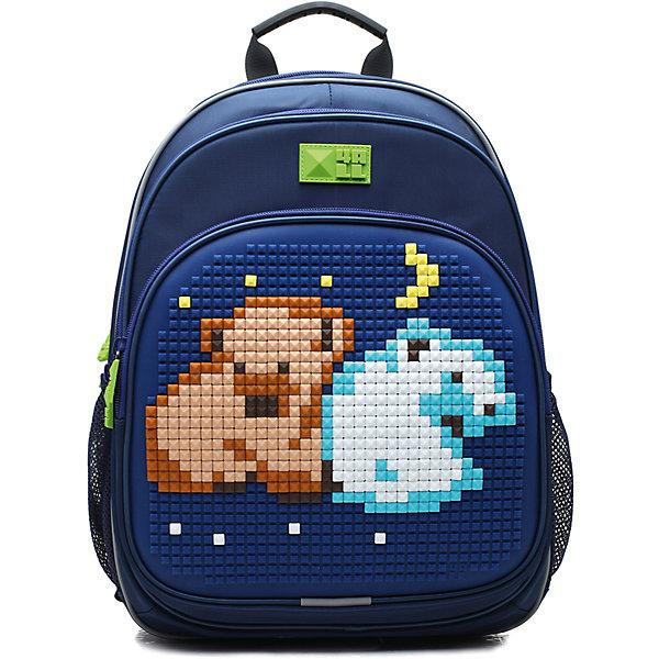 Рюкзак 4ALL, линия Kids, синийРюкзаки<br>Ортопедический рюкзак 4ALL для детей от 7 до 12 лет. Размер  39*27*15см. Вес 950 г. Объем 19 литров. Тип застежки - молния. 3 отделения. 2 боковых кармана-сеточка. Содержит светоотражающие элементы.Вмещает А4. Выполнен из высококачественных материалов: PVC, нейлон и гипоаллергенный силикон (на передней поверхности). Ортопедическая спинка и ERGO system (сводобная циркуляция воздуха). Дно мягкое. Регулируемые лямки. Передняя панель предназначена для декорирования. В комплекте каждого рюкзака приложена картинка и набор Битов STANDART (около 300 элементов из силикона различных цветов)<br>Ширина мм: 390; Глубина мм: 270; Высота мм: 150; Вес г: 950; Возраст от месяцев: 72; Возраст до месяцев: 144; Пол: Мужской; Возраст: Детский; SKU: 6840943;