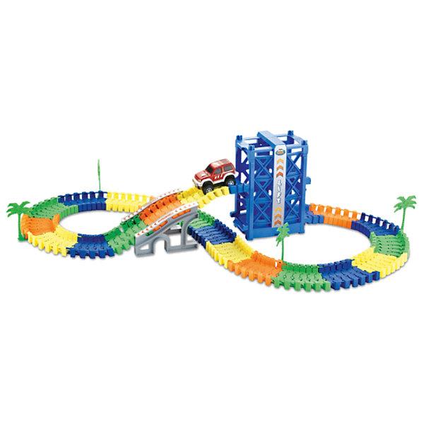 1Toy Гибкий трек Большое путешествие 128 деталей, 1 toy 1toy 1toy гибкий трек большое путешествие 102 детали