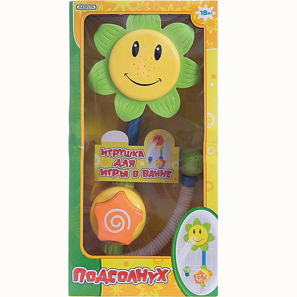 Игрушка для ванны Bairun ПодсолнухИгрушки для ванной<br>Характеристики:<br><br>• возраст: от 18 месяцев<br>• диаметр цветка: 16 см.<br>• материал: пластик<br>• размер упаковки: 41х21х13 см.<br><br>Игрушку для ванны «Подсолнух» от Bairun (Байран) превратит купание малыша в веселую игру.<br><br>Игрушка представляет собой устройство, увенчанное ярким цветком с забавным улыбающимся личиком, которое покрыто веснушками. Веснушки - это небольшие отверстия. Если опустить нижнюю часть игрушки в воду, нажать на кнопку, то вода польется из отверстий-веснушек.<br><br>Игрушка легко крепится к влажной стенке ванны и кафелю с помощью присосок. Яркий подсолнух можно использовать в качестве душевой лейки для малышей.<br><br>Игрушку для ванны Подсолнух, Bairun (Байран) можно купить в нашем интернет-магазине.<br>Ширина мм: 210; Глубина мм: 410; Высота мм: 13; Вес г: 700; Возраст от месяцев: 18; Возраст до месяцев: 2147483647; Пол: Унисекс; Возраст: Детский; SKU: 6841731;