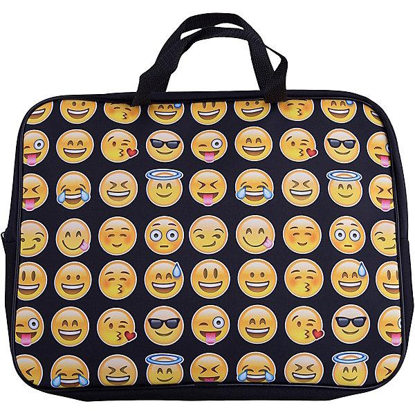 Centrum Папка -сумка Смайлы, текстиль, c ручками, формат А4Папки для дополнительных занятий<br>Характеристики:<br><br>• размер: 36х2х29 см.;<br>• состав: текстиль;<br>• вес: 160 г.;<br>• для детей в возрасте: от 6 лет;<br>• страна производитель: Китай.<br><br>Эта вместительная папка, выполненная в стильном дизайне от бренда CENTRIUM (Центриум) отлично подойдёт для школы и внеклассных занятий. Папка оснащена обширным отделением на молнии, в которое помещаются пособия и тетради формата А4. Папка застёгивается на надёжную молнию.<br><br>Яркий и привлекательный рисунок с популярными смайликами делает папку уникальной в своём роде. С помощью качественно прошитой ручки рюкзак можно носить в руке или вешать на крючок. Благодаря своему каркасу, папка сохраняет свою форму и в ней легче найти нужный предмет или книгу.<br><br>Папку-сумку «Тролли» можно купить в нашем интернет-магазине.