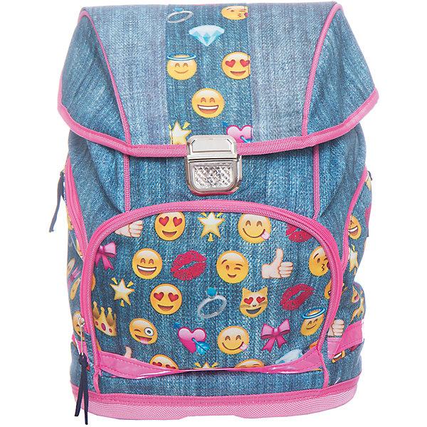 Рюкзак школьный Смайлы, девочкиШкольные рюкзаки<br>Характеристики:<br><br>• размер: 38х18х30 см.;<br>• состав: полиэстер;<br>• вес: 750 г.;<br>• особенности: светоотражающие знаки<br>• для детей в возрасте: от 8 лет;<br>• страна производитель: Китай.<br><br>Этот вместительный рюкзак, выполненный в стиле популярных смайликов от бренда CENTRIUM (Центриум), придёт по вкусу стильным школьникам. Рюкзак оснащён одним обширным отделением на пластиковой застёжке, в которое помещаются книги и тетради формата А4. Спереди расположен передний карман для канцелярских принадлежностей на молнии. По бокам находятся два кармана на молниях для мелочей. <br><br>Уплотнённая твёрдая спинка обработана сетчатым материалом для обеспечения циркуляции воздуха, что предотвращает потоотделение. Мягкие широкие и регулируемые лямки также обработаны сетчатым материалом и способствуют правильному распределению нагрузки на спину. С помощью качественно прошитой ручки рюкзак можно носить в руке или вешать на крючок. Твёрдое дно не пропускает воду.<br><br>Рюкзак выполнен в соответствии с требованиями безопасности детей в тёмное время суток и оснащён деталями со светоотражающими частицами спереди и по бокам. Благодаря обработке водоотталкивающей пропиткой рюкзак не боится дождя и отлично будет сохранять его содержимое от намокания.<br> <br>Рюкзак Смайлы можно купить в нашем интернет-магазине.<br>Ширина мм: 180; Глубина мм: 300; Высота мм: 380; Вес г: 750; Возраст от месяцев: 72; Возраст до месяцев: 2147483647; Пол: Женский; Возраст: Детский; SKU: 6842124;