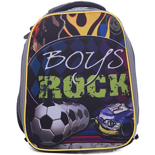Рюкзак школьный каркасный RockШкольные рюкзаки<br>Характеристики:<br><br>• размер: 37х31,5х17 см.;<br>• состав: нейлон, полиэстер;<br>• вес: 900 г.;<br>• особенности: светоотражающие знаки;<br>• для детей в возрасте: от 6 лет;<br>• страна производитель: Китай.<br><br>Этот вместительный рюкзак, выполненный в гоночном стиле от бренда CENTRIUM (Центриум) отлично подойдёт для школы и внеклассных занятий. Рюкзак оснащён одним обширным отделением на молнии, в которое помещаются книги и тетради формата А4. По бокам находятся два сетчатых кармана на резинках для мелочей или бутылочки воды. <br><br>Мягкая спинка из однородного материала приятна в использовании. Широкие и регулируемые лямки способствуют правильному распределению нагрузки на спину. С помощью качественно прошитой ручки рюкзак можно носить в руке или вешать на крючок. Благодаря своему каркасу, рюкзак сохраняет свою форму и в нем легче найти нужный предмет или книгу.<br><br>Рюкзак изготовлен в соответствии с требованиями безопасности детей в тёмное время суток и оснащён деталями со светоотражающими частицами спереди и по бокам.<br><br>Каркасный рюкзак «Rock» (Рок)можно купить в нашем интернет-магазине.<br>Ширина мм: 170; Глубина мм: 315; Высота мм: 370; Вес г: 900; Возраст от месяцев: 72; Возраст до месяцев: 2147483647; Пол: Мужской; Возраст: Детский; SKU: 6842145;