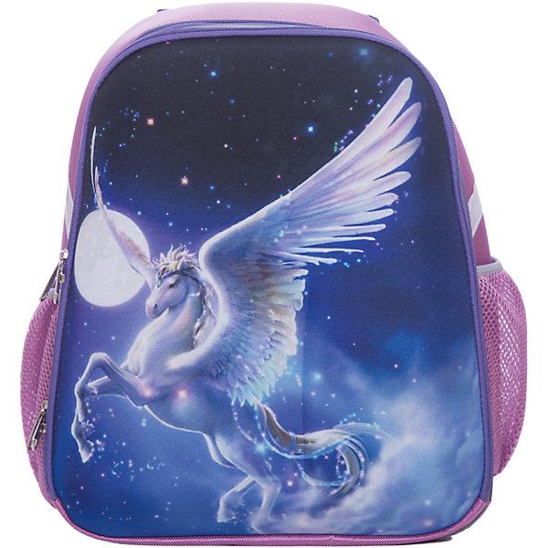 Рюкзак школьный каркасный ПегасШкольные рюкзаки<br>Характеристики:<br><br>• размер: 37х31,5х17 см.;<br>• состав: нейлон, полиэстер;<br>• вес: 900 г.;<br>• особенности: светоотражающие знаки;<br>• для детей в возрасте: от 6 лет;<br>• страна производитель: Китай.<br><br>Этот вместительный рюкзак, выполненный в сказочном стиле от бренда CENTRIUM (Центриум) отлично подойдёт для школы и внеклассных занятий. Рюкзак оснащён обширным отделением на молнии, в которое помещаются книги и тетради формата А4. Внутри расположены дополнительные отделения-карманы. По бокам находятся два сетчатых кармана на резинках для мелочей или бутылочки воды.<br><br>Мягкая спинка из однородного материала приятна в использовании. Широкие и регулируемые лямки способствуют правильному распределению нагрузки на спину. С помощью качественно прошитой ручки рюкзак можно носить в руке или вешать на крючок. Благодаря своему каркасу, рюкзак сохраняет свою форму и в нём легче найти нужный предмет или книгу.<br><br>Рюкзак изготовлен в соответствии с требованиями безопасности детей в тёмное время суток и оснащён деталями со светоотражающими частицами спереди и по бокам.<br><br>Каркасный рюкзак «Пегас» можно купить в нашем интернет-магазине.<br>Ширина мм: 170; Глубина мм: 315; Высота мм: 370; Вес г: 900; Возраст от месяцев: 72; Возраст до месяцев: 2147483647; Пол: Женский; Возраст: Детский; SKU: 6842149;