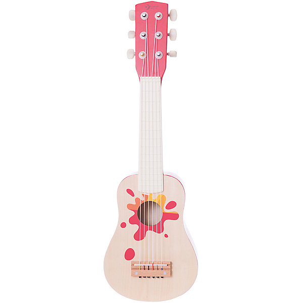 Classic World Красная деревянная гитара