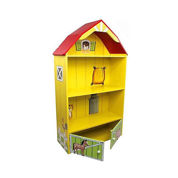 Kids4Kids Кукольный домик из дерева Моя большая ферма с загоном для лошадей, Kids4kids