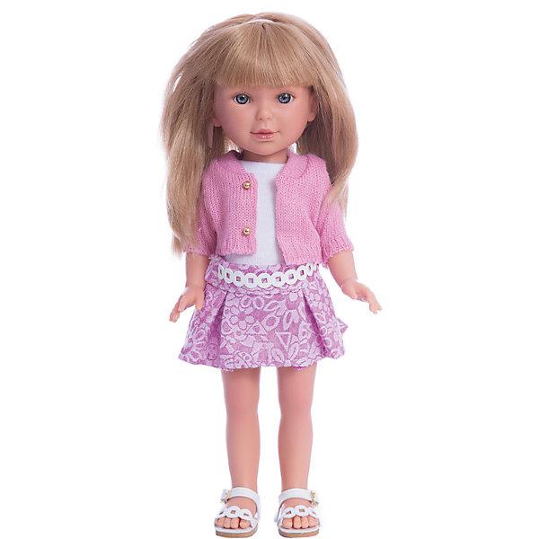 Кукла Паулина, блондинка с челкой, Лето Городской Шик, Vestida de AzulКуклы<br>Характеристики товара:<br><br>• возраст: от 3 лет;<br>• материал: винил, текстиль;<br>• в комплекте: кукла, наряд;<br>• высота куклы: 33 см;<br>• размер упаковки: 40х18х9 см;<br>• вес упаковки: 655 гр.;<br>• страна производитель: Испания.<br><br>Кукла Паулина блондинка с челкой «Лето Городской Шик» Vestida de Azul одета в майку, розовую юбочку и розовый кардиган. У Паулины милое личико с большими живыми глазками, щечками с легким румянцем. Светлые мягкие волосы очень похожи на натуральные. Девочка сможет расчесывать их, укладывать, заплетать, придумывая кукле разнообразные прически.<br><br>Куклу Паулину блондинка с челкой «Лето Городской Шик» Vestida de Azul можно приобрести в нашем интернет-магазине.<br>Ширина мм: 225; Глубина мм: 105; Высота мм: 405; Вес г: 700; Возраст от месяцев: 36; Возраст до месяцев: 2147483647; Пол: Женский; Возраст: Детский; SKU: 6844338;