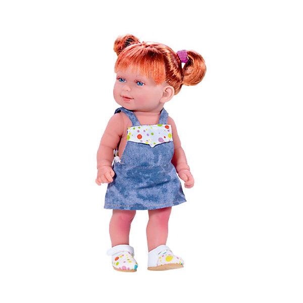 Vestida de Azul Кукла Кина в джинсовом комбинезоне, умеет стоять, серия soft touch, Vestida de Azul куклы и одежда для кукол vestida de azul кина брюнетка с хвостиками лето серия soft touch