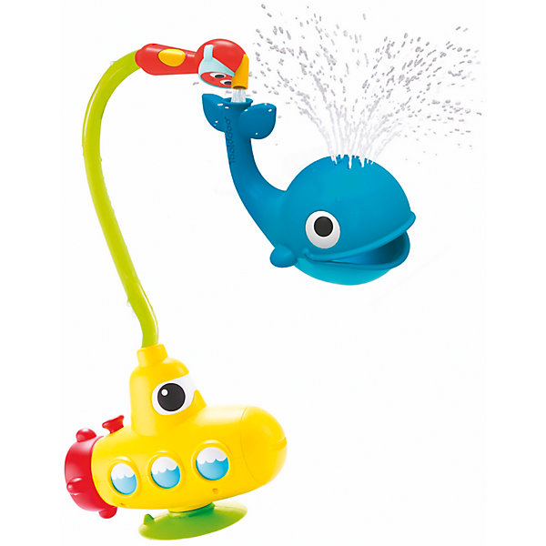 Yookidoo Игрушка водная душ Подводная лодка и Кит, Yookidoo подводная лодка подводная лодка f401 пакет в два треугольной туалетную клапана биде угла клапан пистолет фурма пакет