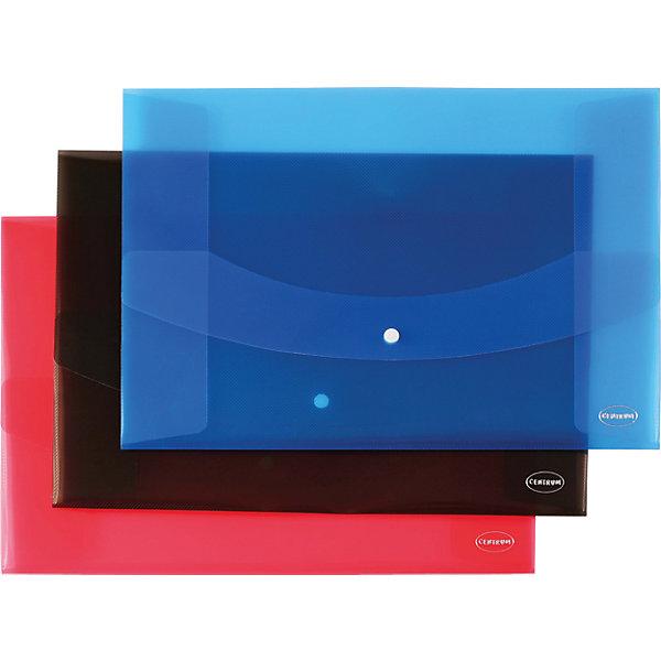 CENTRUM Centrum Папка-конверт с кнопкой А3 centrum папка регистр а4 5см серый
