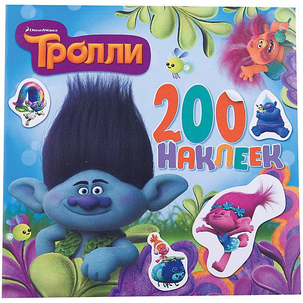 Издательство АСТ Альбом с наклейками, цвет голубой, Тролли