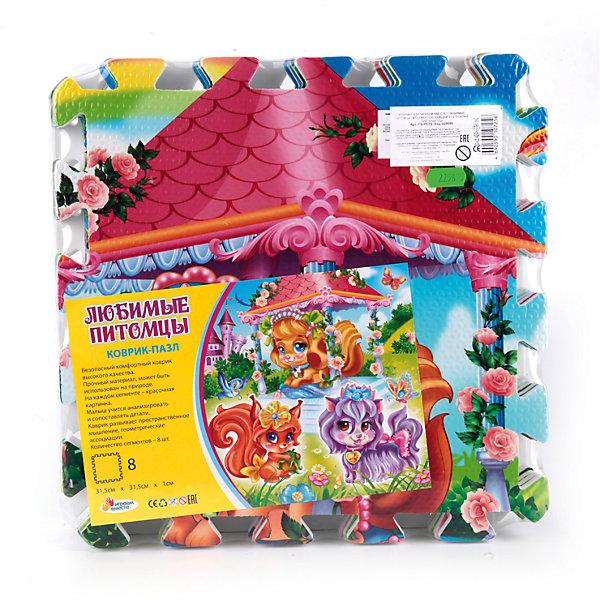 Играем вместе Коврик-пазл Любимые питомцы 8 сегментов, Играем Вместе игровые коврики играем вместе коврик пазл тачки
