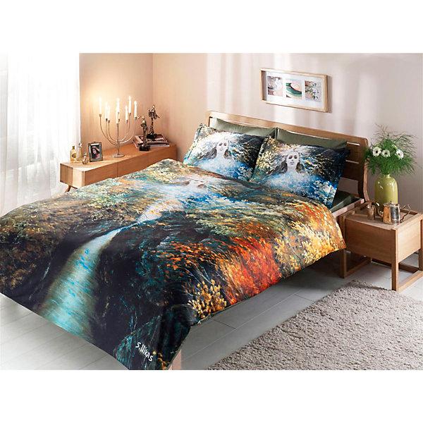 Фото - TAC Постельное белье 1,5 сп. TAC, Живая вода постельное белье этель кружева комплект 2 спальный поплин 2670978