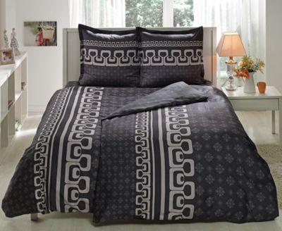 Постельное белье семейный TAC, Leona, серый, артикул:6849283 - Товары для дома