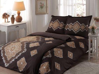 Постельное белье семейный TAC, Diane, коричневый, артикул:6849284 - Товары для дома