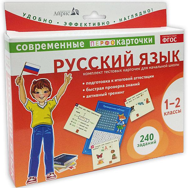 Пособие Русский язык, 1-2 кл., Штец А.А., Куликова Е.Н.Обучающие карточки<br>Характеристики товара:<br><br>• возраст: от 6 лет<br>• комплектация: карточки с заданиями, проверочная таблица, памятка для родителей<br>• авторы: Штец А.А., Куликова Е.Н.<br>• производитель: Айрис-пресс<br>• серия: Комплекты тестовых карточек<br>• иллюстрации: цветные<br>• материал: картон<br>• упаковка: картонная коробка<br>• размер упаковки: 18,5х20х3 см.<br>• вес: 322 гр.<br><br>Комплект тестовых карточек – это развивающее пособие, рекомендованное для проверки и закрепления учебного материала 1-2 классов по русскому языку.<br><br>В комплект входят: карточки с заданиями (240 заданий), проверочная таблица и памятка для родителей. Задания сгруппированы по ключевым разделам русского языка: фонетика (26 заданий), графика (20 заданий), морфемика (40 заданий), морфология (40 заданий), орфография (58 заданий), синтаксис (22 задания).<br><br>Пособие очень удобно в использовании. Краткая инструкция расположена непосредственно на коробке. Важно, что ребёнок, соединив номер на карточке с номером в проверочной таблице, сам может проверить - верный ли ответ.<br><br>Занятия с карточками способствуют развитию наглядно-образного мышления, внимательности, наблюдательности, учат анализировать и логически объяснять решение.<br><br>Оптимальная подача учебного материала, оригинальный дизайн, яркие иллюстрации и краткие задания сделают подготовку итоговому тестированию с данным пособием лёгкой и интересной.<br><br>Пособие Русский язык, 1-2 кл., Штец А.А., Куликова Е.Н. можно купить в нашем интернет-магазине.
