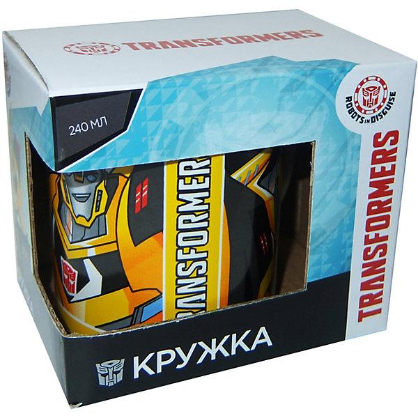 Кружка Transformers Роботы под прикрытием, в ассортиментеДетская посуда<br>Характеристики:<br><br>• Материал: керамика<br>• Тематика рисунка: Трансформеры<br>• Можно использовать для горячих и холодных напитков<br>• Упаковка: подарочная картонная коробка<br>• Объем: 240 мл<br>• Вес: 280 г<br>• Размеры (Д*Ш*В): 12*8,2*9,5 см<br>• Особенности ухода: можно мыть в посудомоечной машине<br><br>Кружка Transformers Роботы под прикрытием в подарочной упаковке, 240 мл выполнена в стильном дизайне: на белый корпус нанесено изображение героев популярного мультсериала Трансформеры. Изображение детально отражает облик экранного прототипа, устойчиво к появлению царапин, не выцветает при частом мытье. <br><br>Кружку Transformers Роботы под прикрытием в подарочной упаковке, 240 мл можно купить в нашем интернет-магазине.<br>Ширина мм: 120; Глубина мм: 82; Высота мм: 95; Вес г: 280; Возраст от месяцев: 36; Возраст до месяцев: 1188; Пол: Мужской; Возраст: Детский; SKU: 6849974;