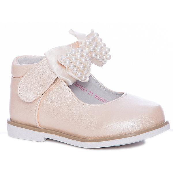 Туфли Mursu для девочкиНарядная обувь<br>Характеристики товара:<br><br>• цвет: бежевый<br>• материал верха: искусственная кожа<br>• подклад: натуральная кожа<br>• стелька: натуральная кожа<br>• подошва: ТЭП<br>• сезон: круглый год<br>• особенности модели: нарядные<br>• застежка: липучка<br>• анатомические <br>• страна бренда: Финляндия<br>• страна изготовитель: Китай<br><br>Туфли для девочки Mursu - это отличный вариант обуви, которую можно использовать как сменную или надевать в торжественных случаях. Удобная застежка позволяет быстро надеть и снять обувь. <br><br>Качественные материалы обеспечивают комфортные условия для ног. Универсальный цвет подходит под любой наряд.<br>Обувь Мурсу - это качественная финская продукция, которая помогает детям выглядеть модно и чувствовать себя удобно.<br><br>Туфли для девочки Mursu можно купить в нашем интернет-магазине.<br>Ширина мм: 227; Глубина мм: 145; Высота мм: 124; Вес г: 325; Цвет: бежевый; Возраст от месяцев: 12; Возраст до месяцев: 15; Пол: Женский; Возраст: Детский; Размер: 21,24,26,25,23,22; SKU: 6851573;
