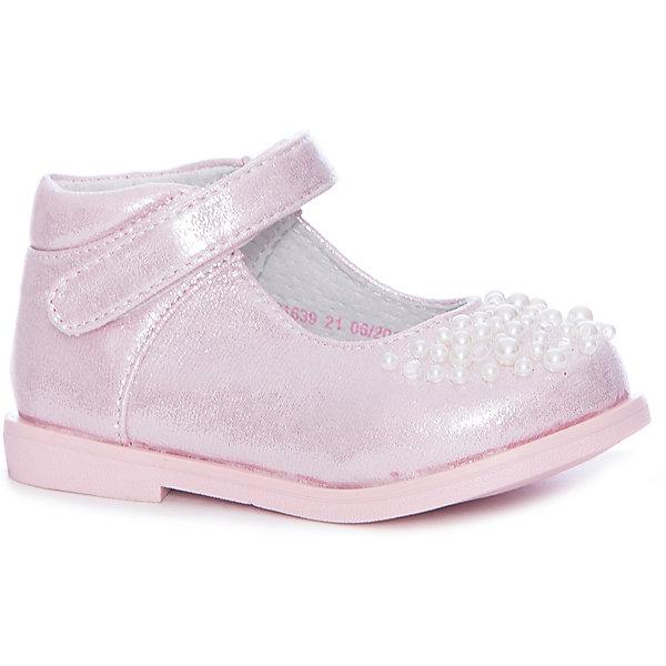 Туфли Mursu для девочкиНарядная обувь<br>Характеристики товара:<br><br>• цвет: розовый<br>• материал верха: искусственная кожа<br>• подклад: натуральная кожа<br>• стелька: натуральная кожа<br>• подошва: ТЭП<br>• сезон: круглый год<br>• особенности модели: нарядные<br>• застежка: липучка<br>• анатомические <br>• страна бренда: Финляндия<br>• страна изготовитель: Китай<br><br>Туфли для девочки Mursu - это отличный вариант обуви, которую можно использовать как сменную или надевать в торжественных случаях. Удобная застежка позволяет быстро надеть и снять обувь. <br><br>Качественные материалы обеспечивают комфортные условия для ног. Универсальный цвет подходит под любой наряд.<br>Обувь Мурсу - это качественная финская продукция, которая помогает детям выглядеть модно и чувствовать себя удобно.<br><br>Туфли для девочки Mursu можно купить в нашем интернет-магазине.<br>Ширина мм: 227; Глубина мм: 145; Высота мм: 124; Вес г: 325; Цвет: розовый; Возраст от месяцев: 12; Возраст до месяцев: 15; Пол: Женский; Возраст: Детский; Размер: 21,26,25,24,23,22; SKU: 6851636;