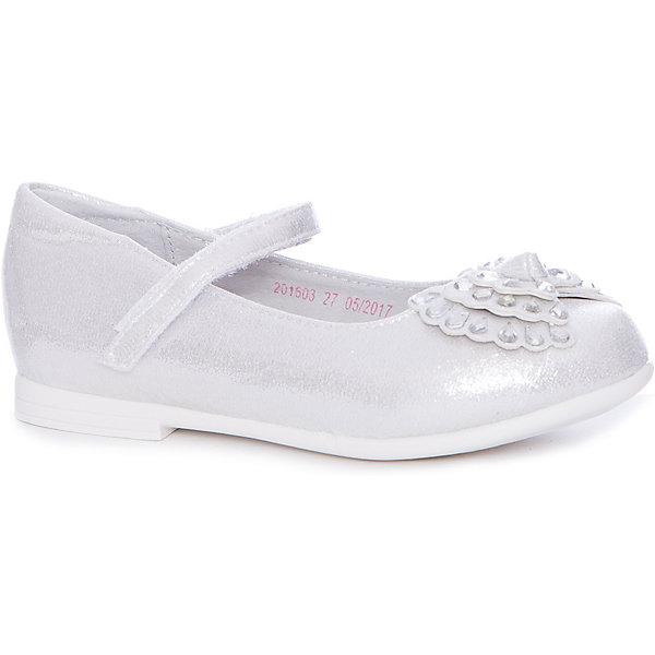 Туфли Mursu для девочкиНарядная обувь<br>Характеристики товара:<br><br>• цвет: серый<br>• материал верха: искусственная кожа<br>• подклад: натуральная кожа<br>• стелька: натуральная кожа<br>• подошва: ТЭП<br>• сезон: круглый год<br>• особенности модели: школьные, нарядные<br>• застежка: липучка<br>• анатомические <br>• страна бренда: Финляндия<br>• страна изготовитель: Китай<br><br>Туфли для девочки Mursu - это отличный вариант обуви, которую можно использовать как сменную или надевать в торжественных случаях. Удобная застежка позволяет быстро надеть и снять обувь. <br><br>Качественные материалы обеспечивают комфортные условия для ног. Универсальный цвет подходит под любой наряд.<br>Обувь Мурсу - это качественная финская продукция, которая помогает детям выглядеть модно и чувствовать себя удобно.<br><br>Туфли для девочки Mursu можно купить в нашем интернет-магазине.<br>Ширина мм: 227; Глубина мм: 145; Высота мм: 124; Вес г: 325; Цвет: серебряный; Возраст от месяцев: 72; Возраст до месяцев: 84; Пол: Женский; Возраст: Детский; Размер: 30,27,28,29,31,32; SKU: 6853274;