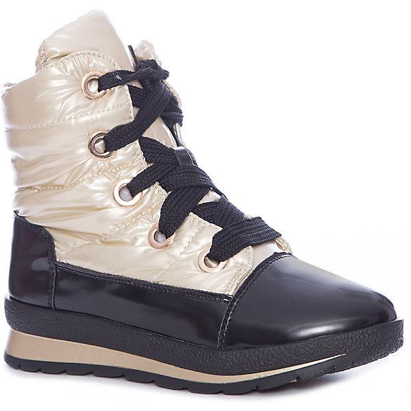 Ботинки для девочки KEDDO, Золотой