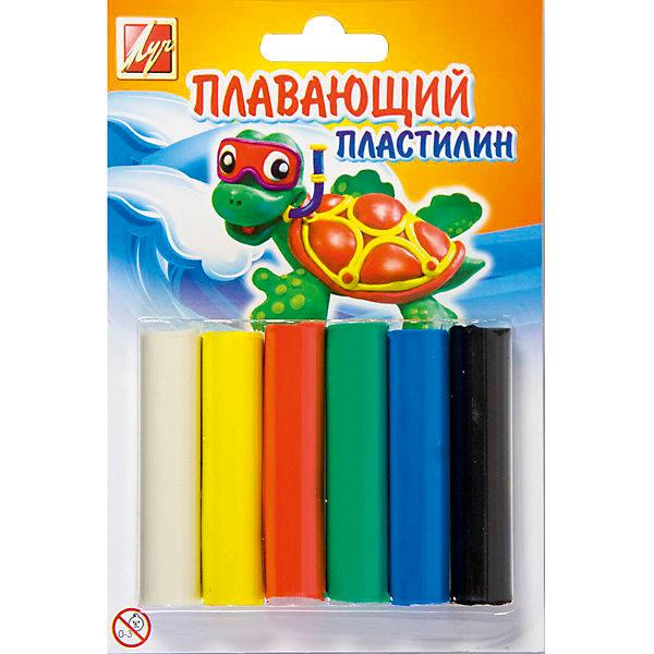 ЛУЧ Пластилин плавающий, 6цветовПластилин<br>Характеристики товара:<br><br>• в комплекте: 6 брусочков;<br>• размер упаковки: 2х15х15 см;<br>• вес: 84 грамма;<br>• возраст: от 3 лет.<br><br>Плавающий пластилин подходит для лепки, создания поделок и других видов творчества. В комплект входят 6 брусочков пластилина насыщенных цветов. Цвета можно смешивать, чтобы получить новые интересные оттенки. Готовые фигурки не тонут и красиво плавают на поверхности воды.<br><br>ЛУЧ Пластилин плавающий, 6цветов можно купить в нашем интернет-магазине.
