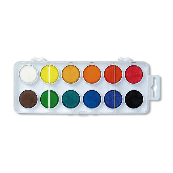 KOH-I-NOOR Краски акварельные, 12 цветовКраски<br>Характеристики товара:<br><br>• количество цветов: 12;<br>• размер упаковки: 1,5х10х16 см;<br>• вес: 160 грамм;<br>• возраст: от 3 лет.<br><br>Акварельные краски отлично подойдут для занятий и творческого отдыха. Палитра включает 12 красок насыщенных цветов. Краска хорошо ложится на поверхность. Цвета можно смешивать для получения нового оттенка.<br><br>KOH-I-NOOR (Кохинор) Краски акварельные, 12 цветов можно купить в нашем интернет-магазине.