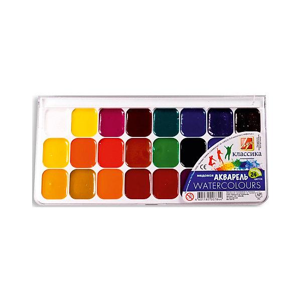 ЛУЧ ЛУЧ Акварель 24 цвета луч акварель медовая классика 12 цветов