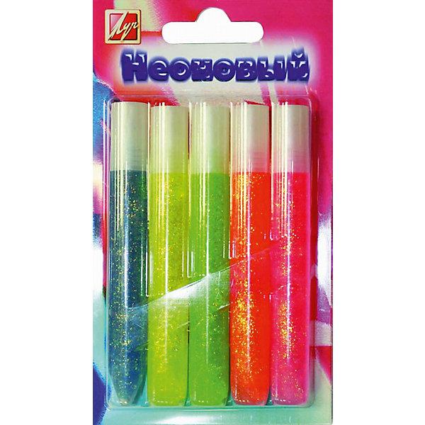 ЛУЧ Гель с блестками 5 цветовКарандаши для творчества<br>Характеристики товара:<br><br>• в комплекте: 5 тюбиков с гелем (оранжевый, салатовый, розовый, желтый, синий);<br>• объем тюбика: 10 мл;<br>• размер упаковки: 3,8х9,3х25 см;<br>• вес: 93 грамма;<br>• возраст: от 3 лет.<br><br>С помощью геля с блестками можно добавить необычные эффекты на любую картину. Благодаря тонкому наконечнику гель наносится очень легко и аккуратно. В комплект входят 5 тюбиков с гелем разных оттенков. Неоновые цвета станут прекрасным дополнением к любой поделке. Для создания прекрасных рисунков ребенку остается лишь добавить немного фантазии.<br><br>ЛУЧ Гель с блестками 5 цветов можно купить в нашем интернет-магазине.<br>Ширина мм: 165; Глубина мм: 95; Высота мм: 15; Вес г: 93; Возраст от месяцев: 36; Возраст до месяцев: 168; Пол: Унисекс; Возраст: Детский; SKU: 6859000;