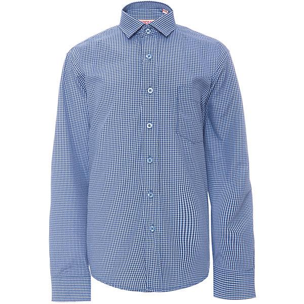 Рубашка для мальчика ImperatorБлузки и рубашки<br>Характеристики товара:<br><br>• цвет: синий<br>• состав ткани: 65% хлопок, 35% полиэстер<br>• особенности: школьная, праздничная<br>• застежка: пуговицы<br>• рукава: длинные<br>• сезон: круглый год<br>• страна бренда: Российская Федерация<br>• страна изготовитель: Китай<br><br>Сорочка классического кроя для мальчика - отличный вариант практичной и стильной школьной одежды.<br><br>Накладной карман, свободный покрой, дышащая ткань с преобладанием хлопка - красиво и удобно.<br><br>Рубашку для мальчика Imperator (Император) можно купить в нашем интернет-магазине.<br>Ширина мм: 174; Глубина мм: 10; Высота мм: 169; Вес г: 157; Цвет: синий; Возраст от месяцев: 132; Возраст до месяцев: 144; Пол: Мужской; Возраст: Детский; Размер: 152/158,122/128,164/170,158/164,152/158,146/152,146/152,140/146,134/140,128/134; SKU: 6860765;