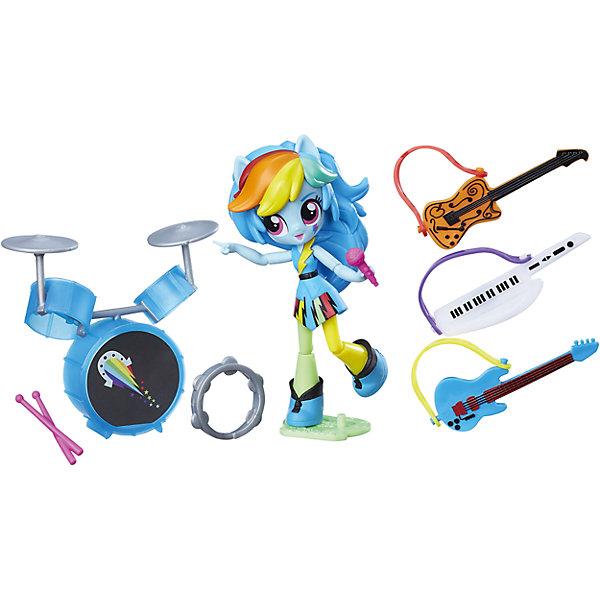Hasbro Набор с мини-куклой Equestria Girls, Музыкальный класс Рэйнбоу Дэш игровой набор equestria girls с мини куклой 12 см в ассортименте