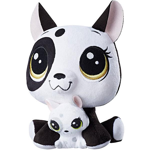 Hasbro Мягкая игрушка Littlest Pet Shop Плюшевые парочки Bullena Doghouser & Scamper Doghouser, 16 см littlest pet shop мягкая игрушка зверушка пенни цвет сиреневый 20 см