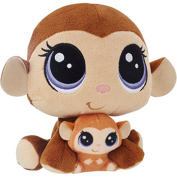 Купить Мягкая игрушка Littlest Pet Shop Плюшевые парочки Mona Junglevine и Merry Junglevine, 16 см, Hasbro, Китай, Унисекс