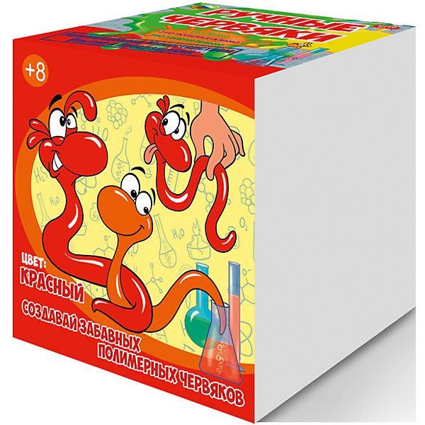 Купить Набор для опытов Цветные полимерные червяки , цвет красный, GOOD FUN, Россия, Унисекс