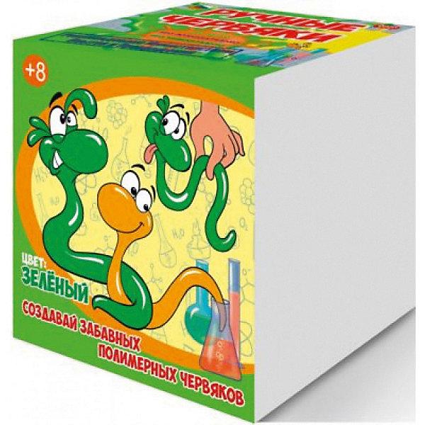 Набор для опытов Цветные полимерные червяки, цвет зеленый, GOOD FUNЛизуны и жвачки для рук<br>Характеристики:<br><br>• возраст: от 8 лет<br>• в наборе: альгинат натрия, хлорид кальция, краситель, пластиковый мерный стаканчик, пластиковый цветной стаканчик, перчатки, мерная ложечка, 2 палочки для размешивания, шприц без иглы, инструкция<br>• дополнительно потребуется: стеклянная банка объемом не менее 0,5 л.<br>• для проведения опыта необходима помощь взрослых<br>• упаковка: картонная коробка<br>• размер упаковки: 12,5х12,5х12,5 см.<br>• вес: 200 гр.<br><br>Набор для опытов «Цветные полимерные червяки» позволит ребенку не только весело и с пользой провести время за приготовлением длинных червяков зеленого цвета, но и познакомится с веществами, которые обладают необычными свойствами - полимерами.<br><br>В набор входят реактивы и приспособления для изготовления полимерных червяков. Эксперимент прост, не надо ничего нагревать и долго ждать, поэтому ребенок справится самостоятельно. Но контроль со стороны взрослых обязателен. Реагенты, входящие в состав, являются пищевыми добавками, поэтому процедура максимально безопасна. Готовых червяков можно растягивать, завязывать в узлы, заплетать в косички.<br><br>Набор для опытов «Цветные полимерные червяки» от GOOD FUN (ГУД ФАН) – это легко, познавательно и увлекательно.<br><br>Набор для опытов Цветные полимерные червяки, цвет зеленый, GOOD FUN (ГУД ФАН) можно купить в нашем интернет-магазине.<br>Ширина мм: 125; Глубина мм: 125; Высота мм: 125; Вес г: 250; Возраст от месяцев: 96; Возраст до месяцев: 2147483647; Пол: Унисекс; Возраст: Детский; SKU: 6863125;
