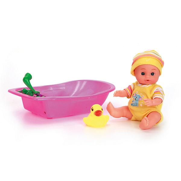 цены Карапуз Пупс 15 см, 3 функции, в ванночке, с аксессуарами, Карапуз