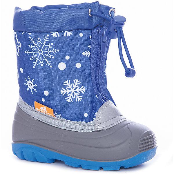 Сноубутсы для мальчика NordmanСноубутсы<br>Характеристики товара:<br><br>• цвет: синий<br>• материал верха: текстиль (oxford)<br>• подклад: шерстяной мех<br>• стелька: шерстяной мех<br>• подошва: ТЭП<br>• сезон: зима<br>• температурный режим: от +7 до -10<br>• застежка: молния, утяжка<br>• непромокаемые<br>• подошва не скользит<br>• анатомические <br>• страна бренда: Россия<br>• страна изготовитель: Россия<br><br>Сноубутсы для мальчика Nordman позволяют сохранить ноги в тепле и одновременно не дают им промокнуть. Такая обувь отлично подходит для снежной зимы или слякоти в межсезонье. <br><br>Высокое голенище из непромокаемой ткани с утяжкой предотвращает попадание снега в сапог. Меховая подкладка обеспечивает комфортные условия для ног благодаря способности материала впитывать влагу.<br><br>Сноубутсы для мальчика Nordman (Нордман) можно купить в нашем интернет-магазине.<br>Ширина мм: 257; Глубина мм: 180; Высота мм: 130; Вес г: 420; Цвет: синий; Возраст от месяцев: 60; Возраст до месяцев: 72; Пол: Мужской; Возраст: Детский; Размер: 29,23,28,27,26,25,24; SKU: 6867277;