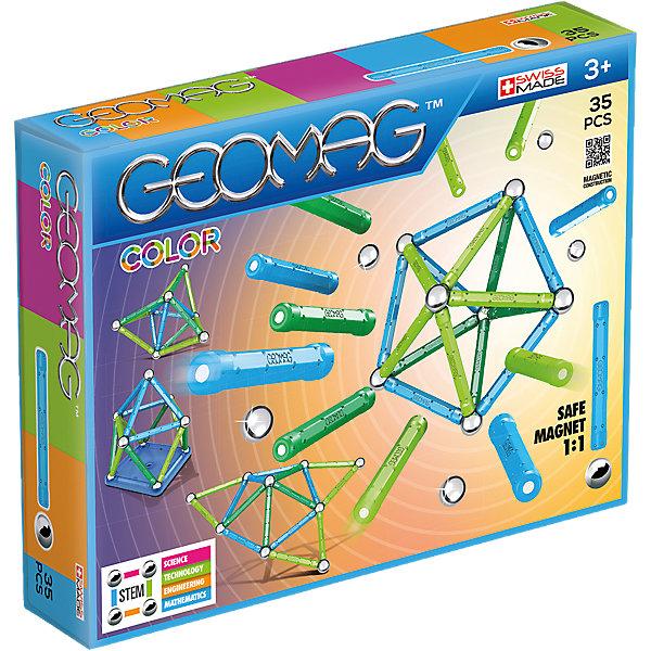 Купить Магнитный конструктор Geomag Color, 35 деталей, желтый, Унисекс