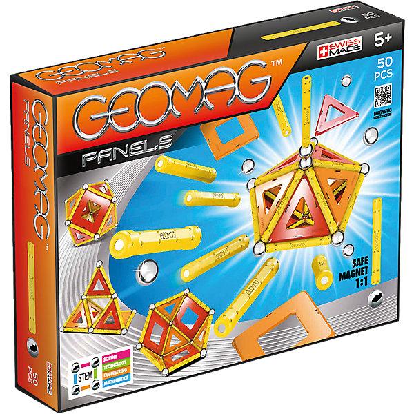Купить Магнитный конструктор Geomag Panels, 50 деталей, оранжевый, Унисекс