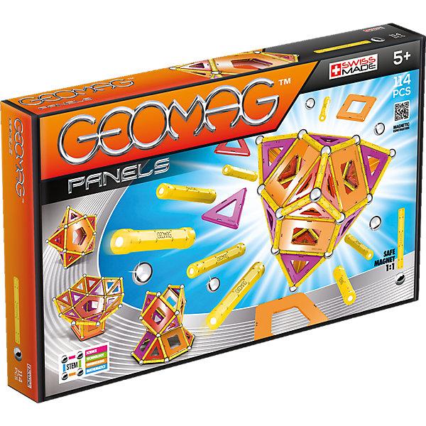 Купить Магнитный конструктор Geomag Panels, 114 деталей, оранжевый, Унисекс