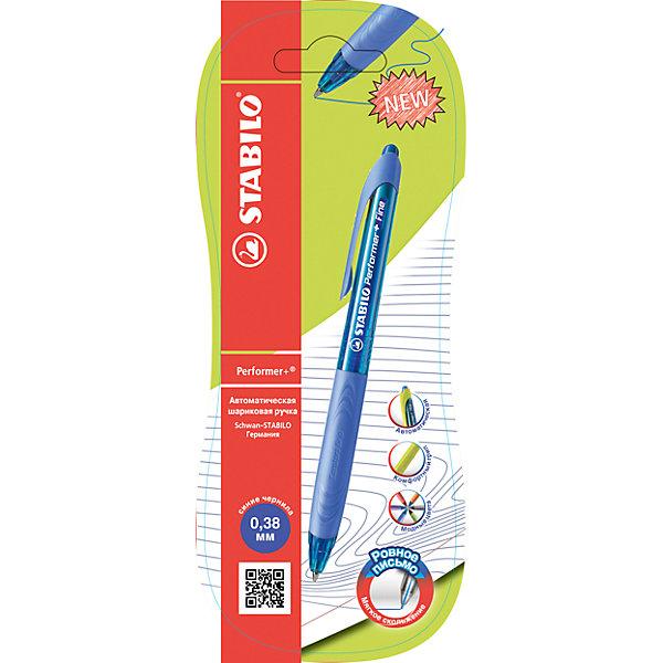 Ручка шариковая PERFORMER+ 1шт синяя 0,3ммРучки<br>Характеристики:<br><br>• возраст: от 3 лет<br>• в наборе: 1 автоматическая ручка<br>• цвет чернил: синий<br>• толщина линии: 0,3 мм.<br>• размер упаковки: 20х7 см.<br><br>Автоматическая шариковая ручка Performer с привлекательным дизайном и ярким цветовым решением корпуса. Ручку отличает усовершенствованный состав масляных чернил, что обеспечивает невероятную мягкость и скорость письма. Рифленая зона обхвата фиксирует пальцы, предотвращая их скольжение, и снижает напряжение кисти при письме.<br><br>Ручку шариковую PERFORMER+ 1шт синюю 0,3мм можно купить в нашем интернет-магазине.<br>Ширина мм: 20; Глубина мм: 7; Высота мм: 1; Вес г: 14; Возраст от месяцев: 36; Возраст до месяцев: 2147483647; Пол: Унисекс; Возраст: Детский; SKU: 6873773;