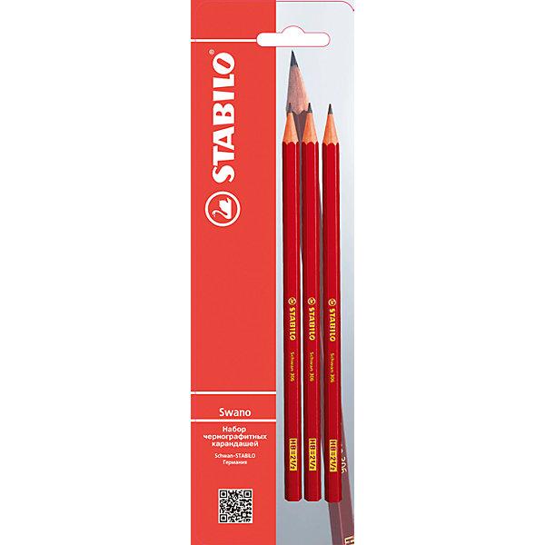 Фотография товара карандаши чернографитные 3шт HB (6873775)