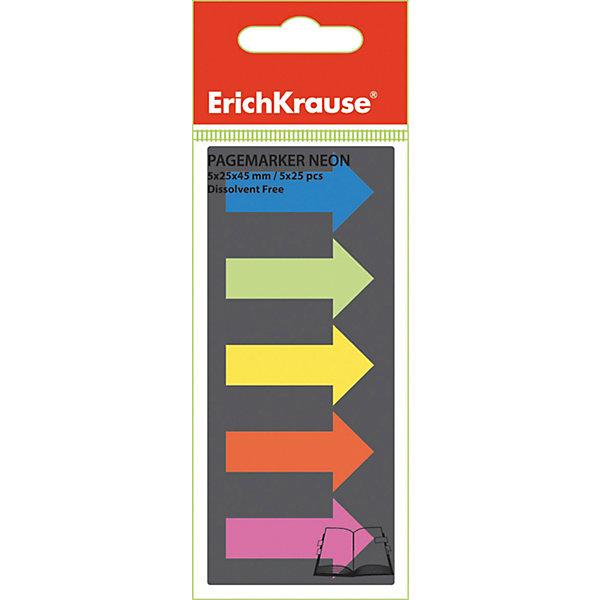 Erich Krause Пластиковые флажки с клеевым краем 5х25х45 неон СтрелкиБумага для заметок и стикеры<br>Характеристики товара:<br><br>• в комплекте: флажки с клеевым краем;<br>• цвета: синий, салатовый, желтый, оранжевый, розовый;<br>• размер флажка: 2,5х4,5 см;<br>• материал: пластик;<br>• размер упаковки: 1,5х6х6 см;<br>• вес: 8 грамм.<br><br>Набор флажков «Стрелки» поможет выделить и сохранить нужную страницу или предложение. Клеевая сторона располагается на странице книги или блокнота и легко снимется, не оставляя следов. Флажки выполнены в ярких неоновых цветах.<br><br>Erich Krause (Эрих Краузе) Пластиковые флажки с клеевым краем 5х25х45 неон Стрелки можно купить в нашем интернет-магазине.<br>Ширина мм: 60; Глубина мм: 60; Высота мм: 15; Вес г: 7; Возраст от месяцев: 144; Возраст до месяцев: 2147483647; Пол: Унисекс; Возраст: Детский; SKU: 6878814;