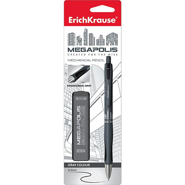Erich Krause Erich Krause Карандаш механический MEGAPOLIS CONCEPT в наборе с 20 грифелями HB (в блистере), 0.5 мм