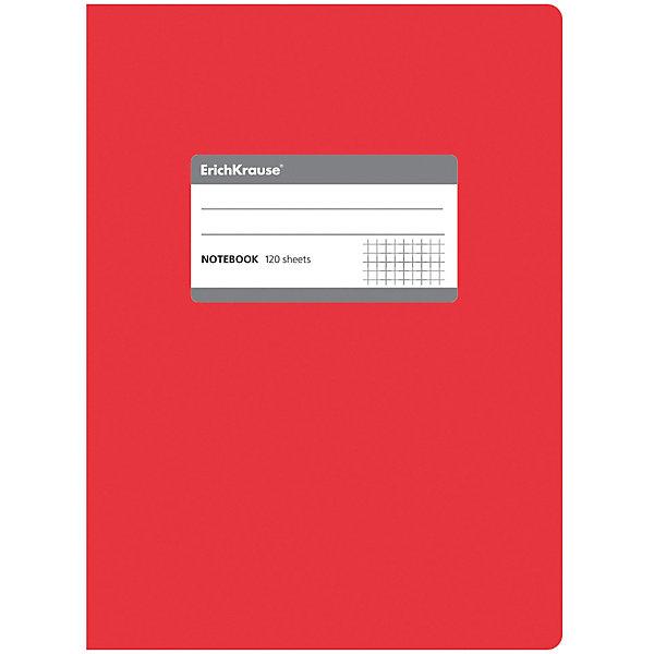 Erich Krause Тетрадь общая c титульной этикеткой А5, ONE COLOR, 120 листов, клеткаТетради<br>Характеристики товара: <br><br>• количество листов: 120;<br>• формат: А5;<br>• цвет: красный;<br>• плотность бумаги: 60 г/м2;<br>• размер упаковки: 1,5х15х21 см;<br>• вес: 256 грамм.<br><br>Общая тетрадь ONE COLOR предназначена для старшеклассников, студентов и тех, кому необходимо записывать большой объем информации. 120 листов тетради разлинованы в клетку без полей. Бумага отличается высокой прочностью, благодаря чему писать на ней можно любыми чернилами.<br><br>Обложка тетради изготовлена из плотного картона с фактурным ламинированием. Она сохранит опрятный вид тетради и защитит ее от намокания и изнашивания. На титульном листе есть этикетка для внесения данных о владельце.<br><br>Erich Krause (Эрих Краузе) Тетрадь общую c титульной этикеткой А5, ONE COLOR, 120 листов, клетка можно купить в нашем интернет-магазине.<br>Ширина мм: 210; Глубина мм: 150; Высота мм: 15; Вес г: 255; Возраст от месяцев: 144; Возраст до месяцев: 2147483647; Пол: Унисекс; Возраст: Детский; SKU: 6878823;