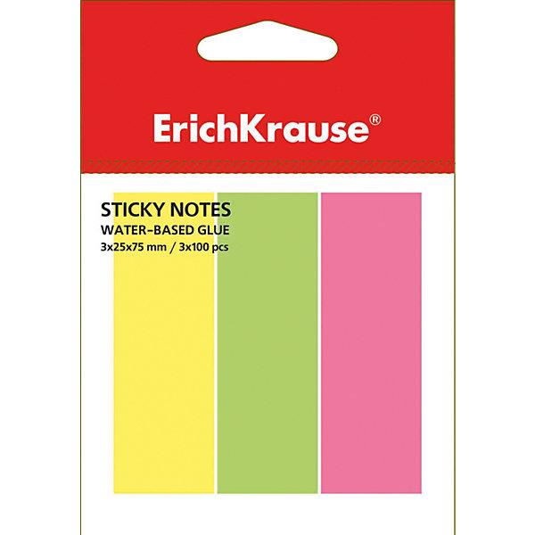 Erich Krause Флажки с клеевым краем Erich Krause 3х25х75 неонБумага для заметок и стикеры<br>Характеристики товара:<br><br>• количество листов: 300;<br>• цвета: желтый, розовый, зеленый;<br>• размер флажка: 3х25х75 мм;<br>• материал: бумага;<br>• размер упаковки: 1,5х4х7 см;<br>• вес: 50 грамм.<br><br>Флажки Erich Krause помогут сделать компактные закладки на страницах книг и тетрадей. Клеевой край надежно крепится к поверхности листа и легко снимается, не оставляя следов. На закладке можно написать необходимую информацию. В набор входят 3 блока по 100 листов, выполненных в ярких неоновых цветах: розовый, зеленый, желтый.<br><br>Erich Krause (Эрих Краузе) Флажки с клеевым краем Erich Krause 3х25х75 неон можно купить в нашем интернет-магазине.<br>Ширина мм: 70; Глубина мм: 40; Высота мм: 15; Вес г: 50; Возраст от месяцев: 120; Возраст до месяцев: 2147483647; Пол: Унисекс; Возраст: Детский; SKU: 6878864;