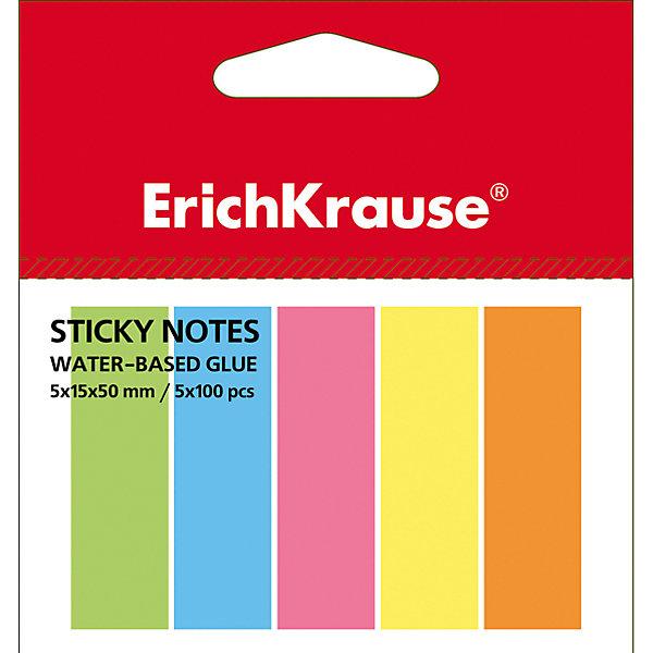 Erich Krause Флажки с клеевым краем Erich Krause 5х15х50 неонБумага для заметок и стикеры<br>Характеристики товара:<br><br>• количество листов: 500;<br>• цвета: желтый, розовый, зеленый, голубой, оранжевый;<br>• размер флажка: 5х15х50 мм;<br>• материал: бумага;<br>• размер упаковки: 1,5х4х7 см;<br>• вес: 33 грамма.<br><br>Флажки Erich Krause помогут сделать компактные закладки на страницах книг и тетрадей. Клеевой край надежно крепится к поверхности листа и легко снимается, не оставляя следов. На закладке можно написать необходимую информацию. В набор входят 5 блоков по 100 листов, выполненных в ярких неоновых цветах: розовый, зеленый, желтый, оранжевый, голубой.<br><br>Erich Krause (Эрих Краузе) Флажки с клеевым краем Erich Krause 5х15х50 неон можно купить в нашем интернет-магазине.<br>Ширина мм: 70; Глубина мм: 40; Высота мм: 15; Вес г: 33; Возраст от месяцев: 120; Возраст до месяцев: 2147483647; Пол: Унисекс; Возраст: Детский; SKU: 6878865;
