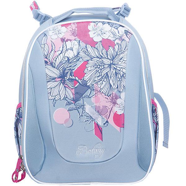 Рюкзак школьный  ErichKrause с эргономичной спинкой Botany ( модель Multi Pack ), 20 литровРюкзаки<br>Характеристики:<br><br>• возраст: от 6 лет;<br>• материал: 100%  полиэстер;<br>• размер ранца: 40х32х18 см;<br>• вес ранца: 820 гр;<br>• объем в литрах: 20;<br>• тип рюкзака: детский;<br>• особенности: без наполнения;<br>• спинка: эргономичная;<br>• тип застёжки: молния;<br>• усиленная ручка с резиновой накладкой;<br>• широкие, эргономичные лямки;<br>• светоотражающие элементы;<br>• количество отделений: одно с мягкой перегородкой для тетрадей;<br>• количество карманов: передний карман, два боковых кармана;<br>• пластиковые ножки;<br>• жёсткое дно;<br>• размер упаковки: 32х18х40 см;<br>• страна бренда: Германия.<br><br>Рюкзак Botany «Ботани» ( модель Multi Pack «Мульти Пак)  выполнен из материала EVA с покрытием из водонепроницаемого полиэстера. Материал рюкзака обладает морозоустойчивостью и износостойкостью. Мягкие комфортные лямки  в сочетании с твердой спинкой  делают ношение рюкзака  комфортным и безопасным для позвоночника. Дно рюкзака укреплено пластиковыми ножками. Светоотражающие элементы интегрированы в конструкцию по всему периметру.<br><br>Благодаря прочной конструкции содержимое рюкзака не мнется и защищено от повреждений. Во внутреннем отделении помещаются альбомы и папки формата А4. Спереди один большой карман на молнии, по бокам 2 сетчатых кармашка для мелочей.<br><br>Рюкзак Erich Krause  «Botany» (Эрик Крауз «Ботани» модель Multi Pack «Мульти Пак) можно купить в нашем интернет магазине.<br>Ширина мм: 400; Глубина мм: 320; Высота мм: 180; Вес г: 1415; Возраст от месяцев: 72; Возраст до месяцев: 132; Пол: Женский; Возраст: Детский; SKU: 6878915;